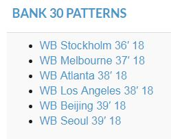 bank 30 patterns